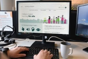 UU bilde av skjerm med tilsynets nettside